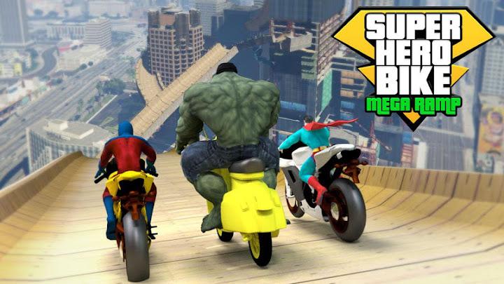 Super Hero Bike Mega Ramp Android App Screenshot