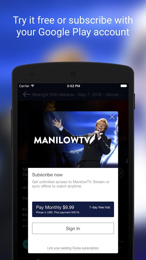 ManilowTV- screenshot