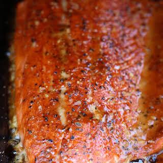 Cedar Plank Spice-Rubbed Salmon.