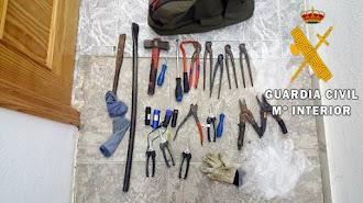 Herramientas utilizadas en los diferentes robos.