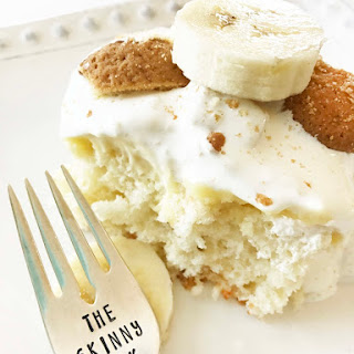 Skinny Banana Pudding Poke Cake.