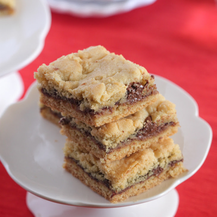 Nutella Butter Cookie Bars Recipe