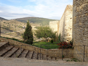 Photo: Looking north from outside the walls of Morella