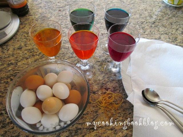 Декорация на Великденски яйца с гумени ластици