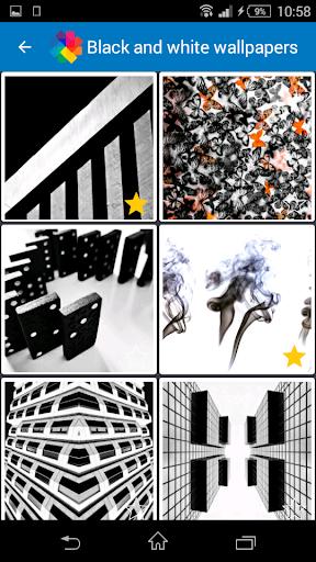 黒と白の壁紙