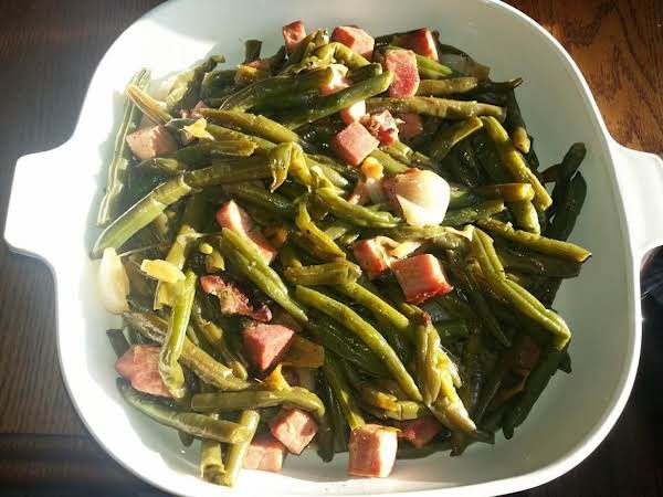 Southern Green Beans With Ham Recipe