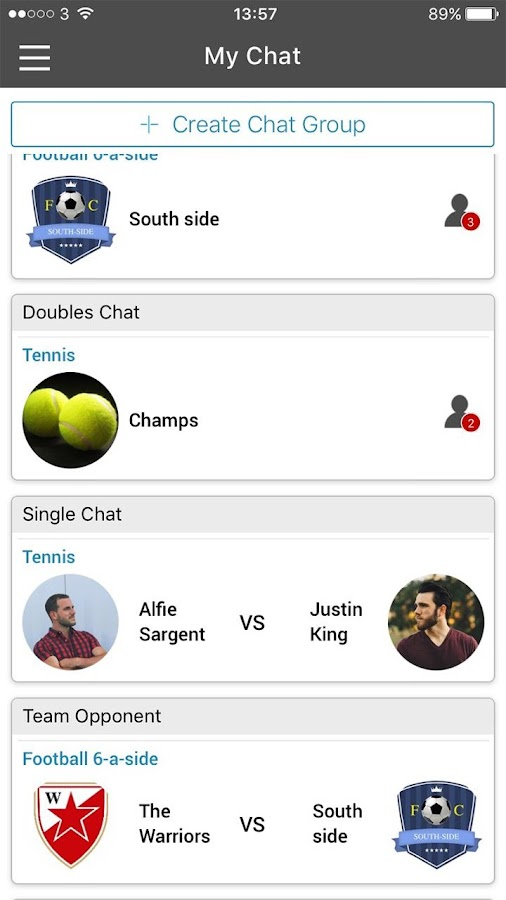 Sportsfixer - The Sports Social Network App- screenshot