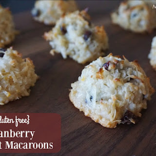 {gluten free} Cranberry Coconut Macaroons.