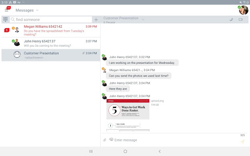 Avaya IX Workplace screenshots 6