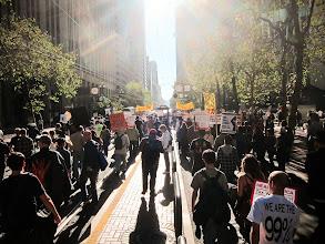 Photo: Occupy San Francisco march on Market Street by Joe Sciarrillo