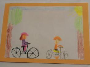 """Photo: praca Laury """" Jeździmy rowerem bo ... to przyjemne """""""