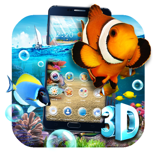 Dynamic 3D Aquarium Fish Theme