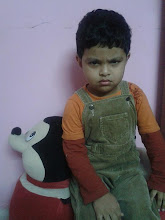 Photo: On 21st Jan'12, Kaustav turns 3. I love him for his smiles, pranks, wrestling sessions, questions, answers, .... just everything and above all his cute anger. He keeps us busy on our toes by these actions and more .... Love you, Coochiecoo :)