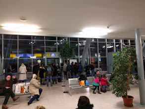 Photo: There were two gates for our flight, and a little holding pen.