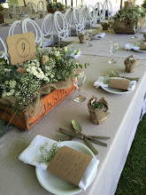 Photo: Rustic table decore