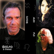 """Photo: ------------------------------------------------------------------- WOLFO c/o http://wolfo.glaviva.eu -------------------------------------------------------------------- Born 1960 in Hagen, Wolfo (Wolfgang Dehmel) grew up incompany with many other musicians from this region whoare nowadays well knownin Germany(e.g. Nena, Extrabreit, Grobschnitt etc.).  After winning the """"Bundesrockmusikpreis"""" in1978 asthe lead guitarist of his band at this time, he has beenpart in a plenty of recording-sessions.  By now Wolfo looks back on 40 years of musical experiencein different genres with many renowned artists.  -------------------------------------------------------------------- FLO c/o """"WOLFO & friends"""" http://wolfo.glaviva.eu -------------------------------------------------------------------- Born 1962 in Paderborn, Flo (Florian Pritsch) hasbeen a musical buddy forWolfo during the last 25 years.  In the 80s Flo studied composition and music theory atthe university for music in Detmold.  Well known as an outstanding keyboarder he was e.g.engaged for a tour with Ian Paice (DP) in 2007 andaccompanied Jon Lord † (DP) with arranging his""""Concerto"""" at the theatre Hagen 2008.  -------------------------------------------------------------------- ALEX c/o """"WOLFO & friends"""" http://wolfo.glaviva.eu -------------------------------------------------------------------- Born 1988 in Jena, Alex (Alexandra) spentthe last4 years perfecting her unbelievable talent and skillswith professional vocal training in the genres ofmusical, classical and popular music.  Alex underlines """"WOLFO & friends"""" with a unique, emotionallyrousing vocal expression which is absolutely peerless."""