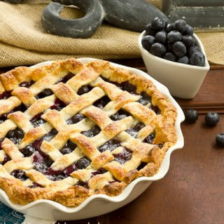 Lattice Topped Blueberry Pie