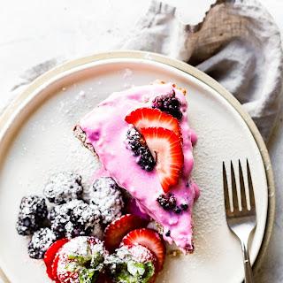Berry Yogurt Frosted Flourless Cake Recipe
