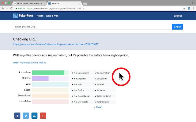 FakerFact: Fake News Detection