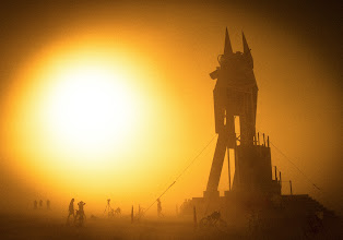 Photo: Ancient Anubis in Sandstorm  Here's one of the photos that I took with the Phase One out in the desert. I'm not at all an expert with these cameras, but I did have a lot of fun with experimentation!