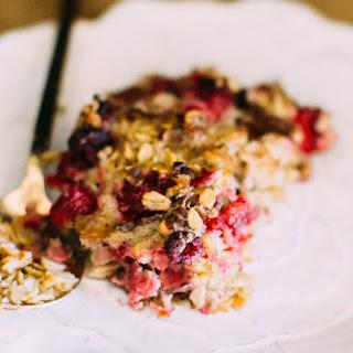 Raspberry Pecan Oat Bake