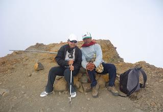 Photo: Climbing mount Rinjani Summit 3726 meters, Ms Inna Saidi 2 participant from Singapore, hiking mount Rinjani 4 Days 3 Nights