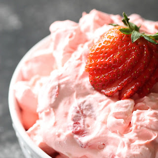Strawberry Jello Fluff Salad.