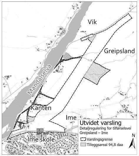 Planområde vist i kart