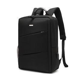 Rucsac laptop CoolBELL cu port USB de incarcare, 15.6″, Negru