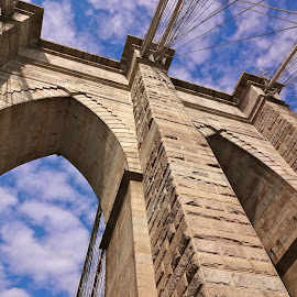 Brooklyn Bridge by Dawn Friend - Buildings & Architecture Bridges & Suspended Structures ( blue sky, nyc, bridge, brooklyn bridge,  )