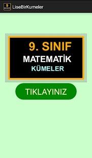 9. Sınıf Matematik Kümeler - náhled