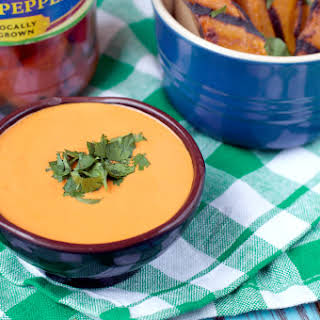 Grilled Sweet Potato Fries with Southwest Roasted Red Pepper Dip.