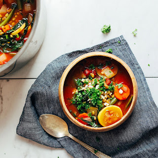 Fire-Roasted Tomato & Mung Bean Soup.