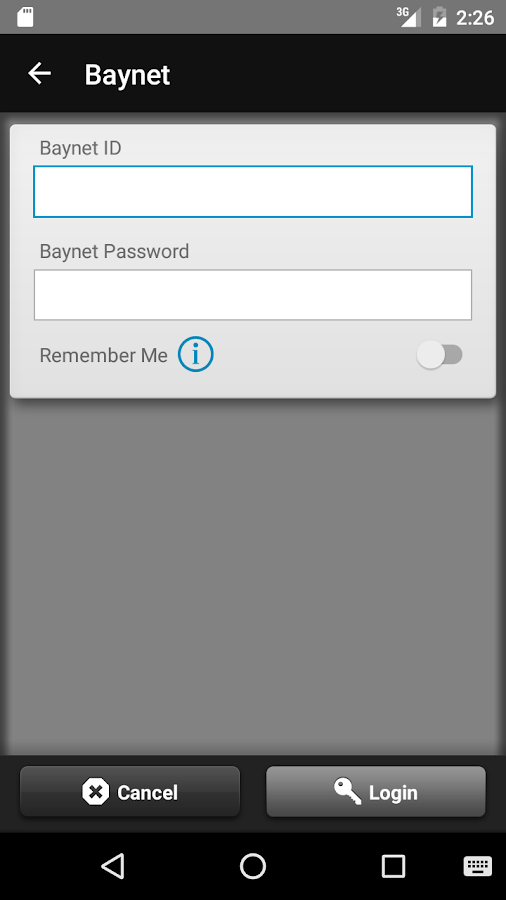 Baynet Mobile Banking- screenshot