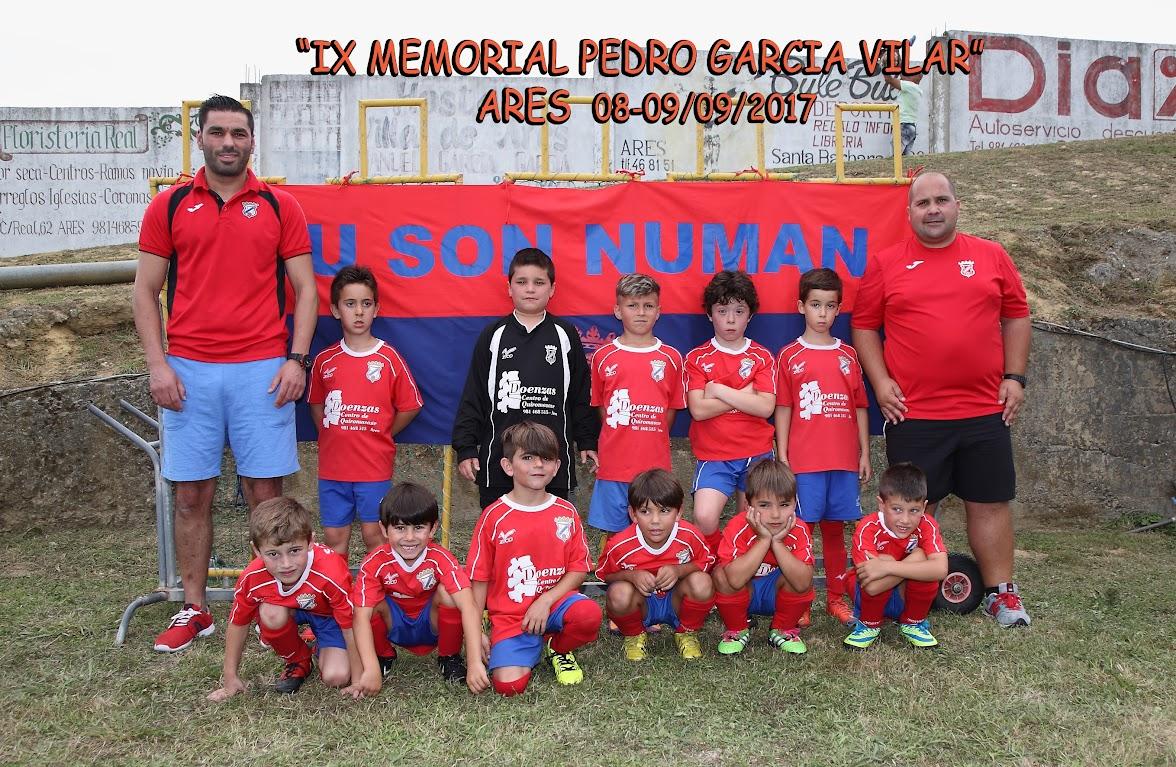 ADR Numancia de Ares. Prebenjamines 2017-2018. Foto Equipo.