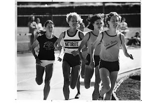 Photo: Jacqueline Hansen, Cheryl Bridges, Carol Cook, Peg Neppel, 1976 Eugene, 10,000m.