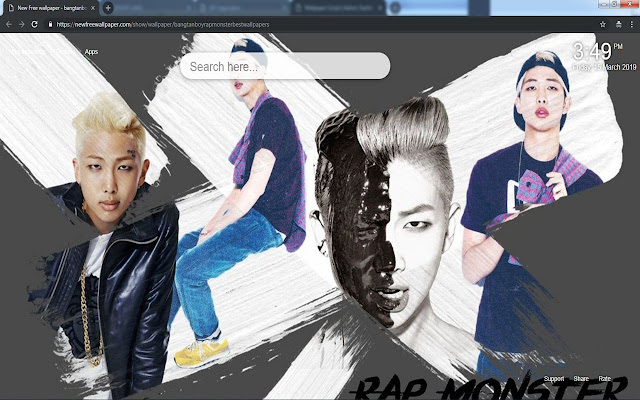 Bangtan boy Rap Monster best wallpapers
