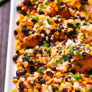 Mexican Street Corn Black Bean Chicken Bake.