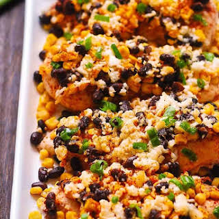 Mexican Street Corn Black Bean Chicken Bake.