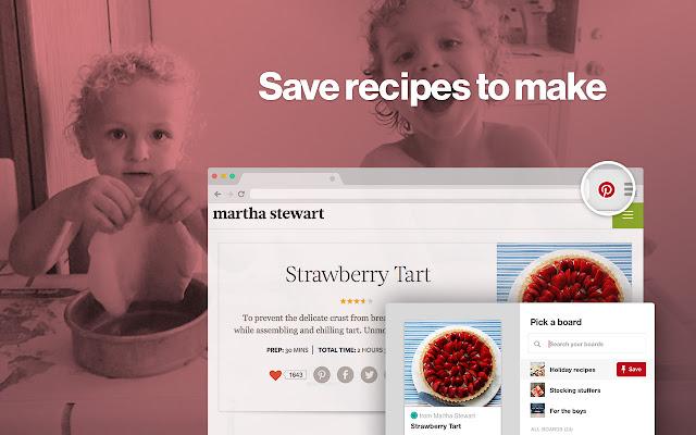 Pinterest Save Button chrome extension