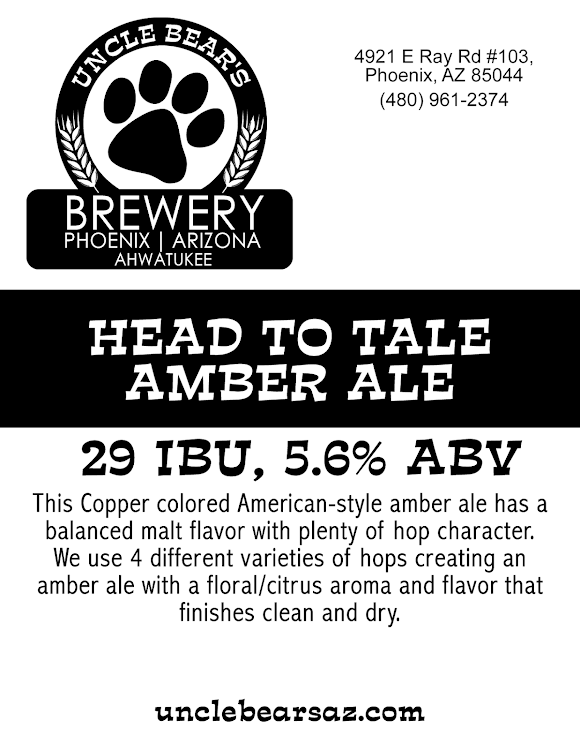 Logo of Uncle Bear's Head To Tale Ale Amber Ale