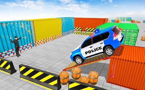 Police Jeep Spooky Stunt Parking 3D 3 4