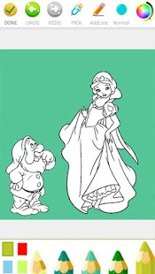 Kids Finger Coloring Books Snow White Princess - náhled