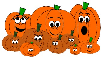 Pumpkin Patch Clip Art Characters by Stars | Teachers Pay Teachers