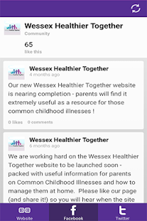 Wessex Healthier Together- screenshot thumbnail