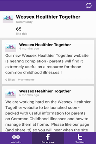 Wessex Healthier Together- screenshot