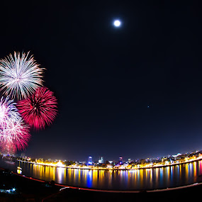 Phnom Penh, Cambodia.  by Rechard Sniper - Abstract Fire & Fireworks