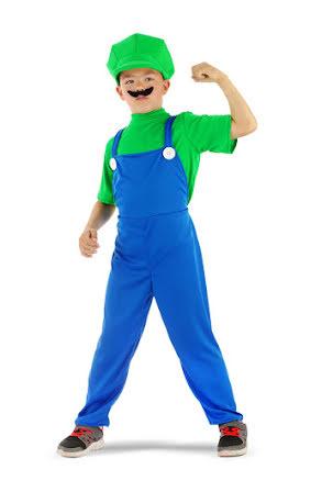 Barndräkt, superrörmockare grön