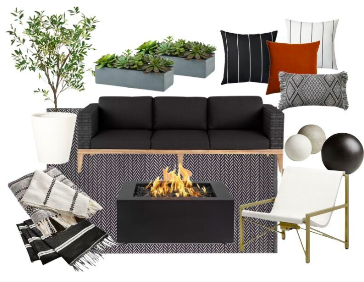 Outdoor spaces for a memorable summer, mood board