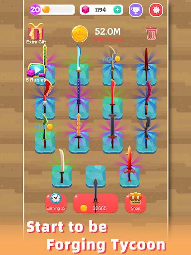 Merge Sword - Idle Blacksmith Master 1.3.4 screenshots 10